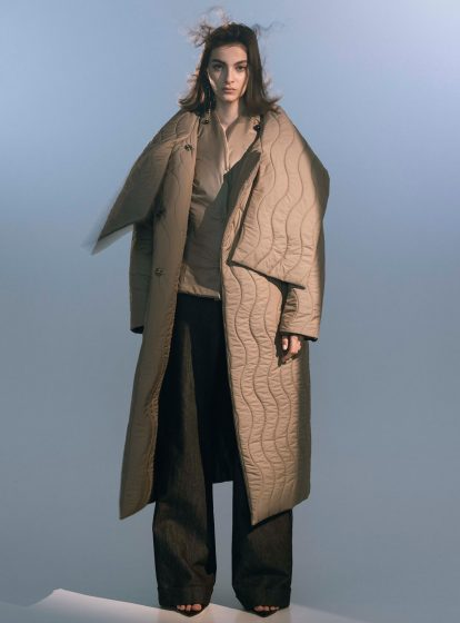 QUILTED REVERSIBLE COAT STONE AW/21  (PRE-ORDER)