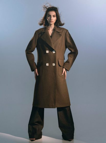 WOOL COAT WOODEN AW/21